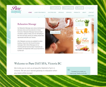 Re-launched! Pure Day Spa in Victoria, BC